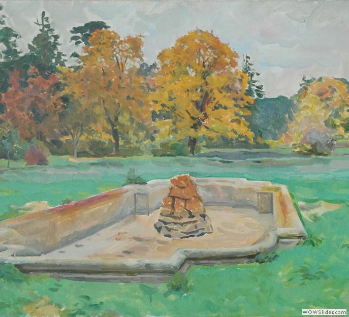 Осенний парк 1959 г.; холст, масло; 61*88
